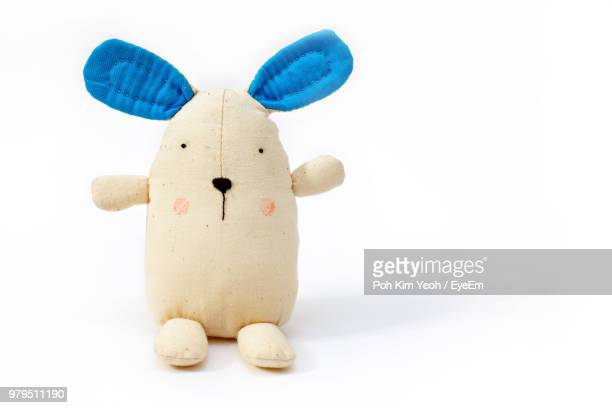 close-up of stuffed toy against white background - stuffed toy stock pictures, royalty-free photos & images