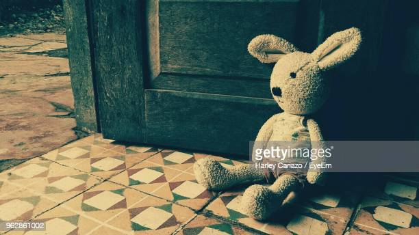 Close-Up Of Stuffed Toy By Door