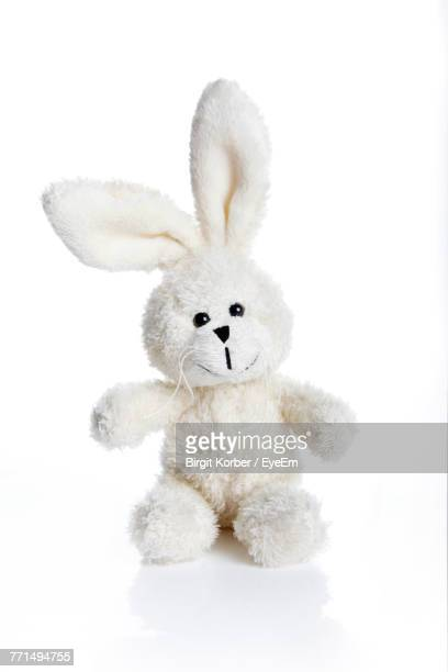 close-up of stuffed toy over white background - stuffed toy stock pictures, royalty-free photos & images