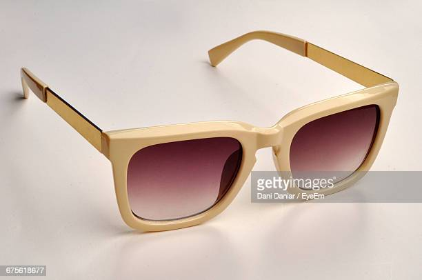 Close-Up Of Sunglass On White Background
