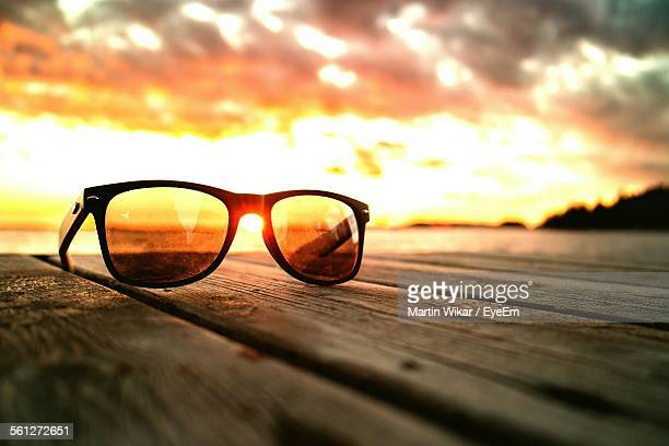 Close-Up Of Sunglasses On Jetty