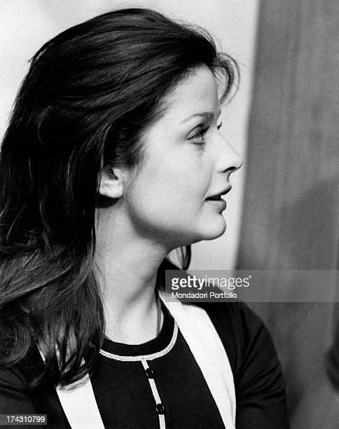 Closeup of Swedish actress Ewa Aulin in the film Rosina Fumo viene in città per farsi il corredo Rome 1972