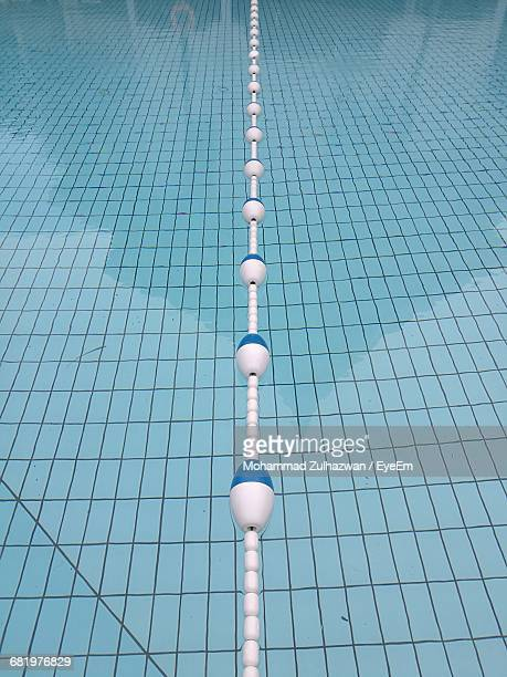 close-up of swimming lane marker - length stock pictures, royalty-free photos & images