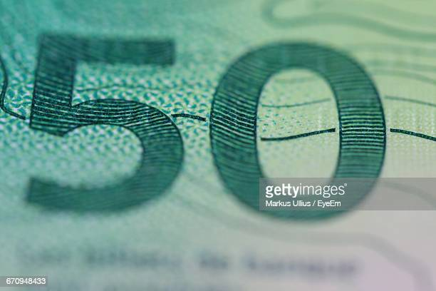 Close-Up Of Swiss Currency