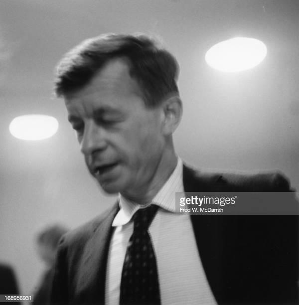 Closeup of Swissborn American photographer Rudy Burckhardt as he attends the opening of the Guggenheim Museum New York New York October 19 1959