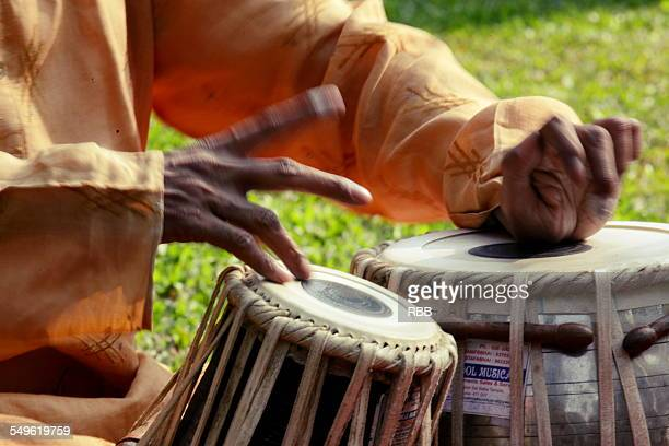 Close-Up of Tabla playing Hands