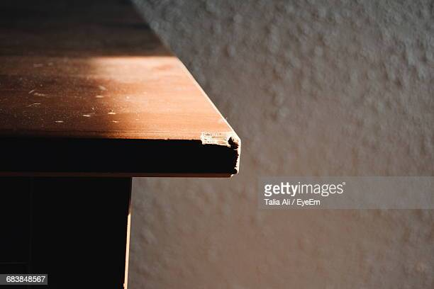 Close-Up Of Table Corner