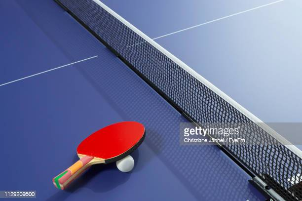 close-up of table tennis table - table tennis stock pictures, royalty-free photos & images