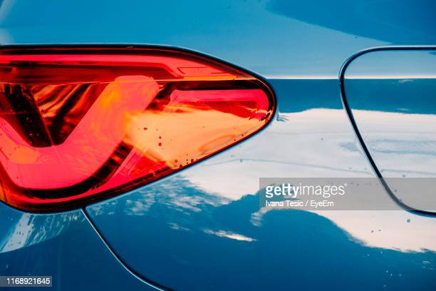 close-up of tail light on car - tail light stock pictures, royalty-free photos & images