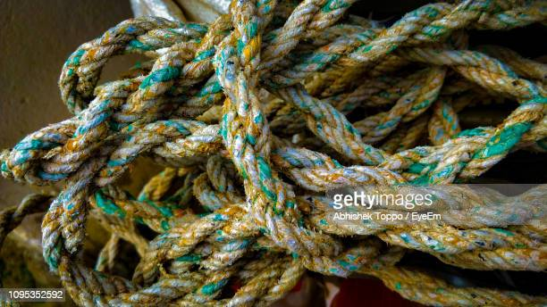 Close-Up Of Tangled Rope