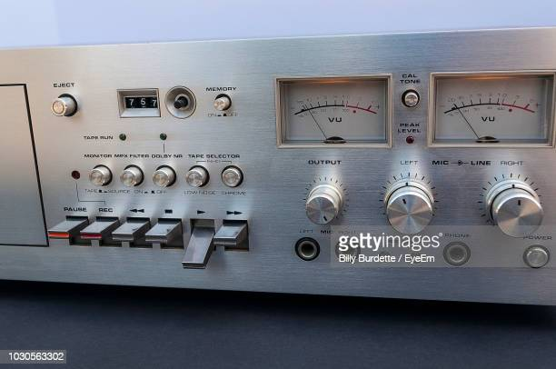 close-up of tape recorder - hi fi stock pictures, royalty-free photos & images