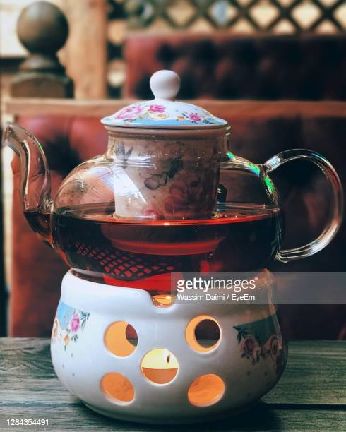 close-up of tea cup on table - craft stock pictures, royalty-free photos & images