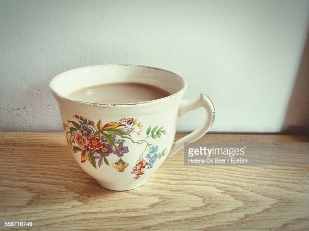 Close-Up Of Tea Cup On Wooden Table