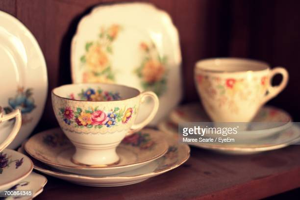close-up of tea cup - porcelain stock photos and pictures
