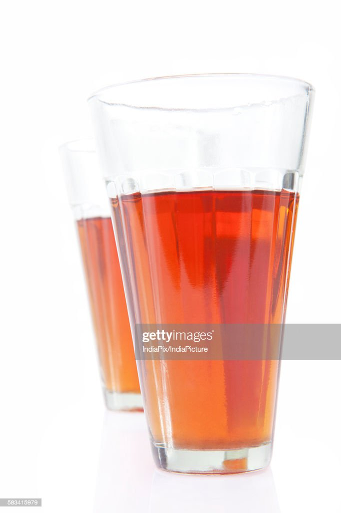 Close-up of tea in glasses : Stock Photo