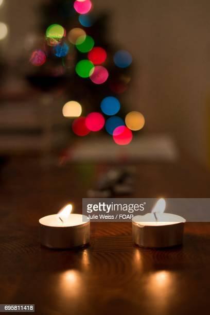 Close-up of tea light