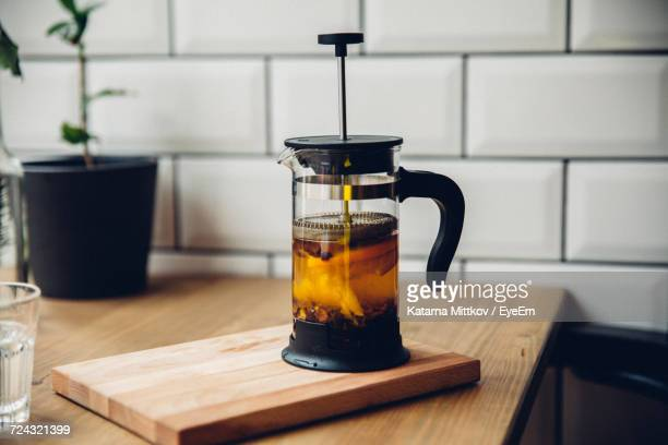 close-up of tea maker - coffee maker stock pictures, royalty-free photos & images