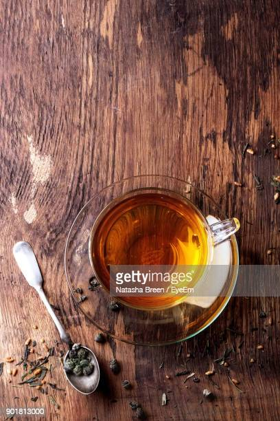 close-up of tea on table - black tea stock pictures, royalty-free photos & images