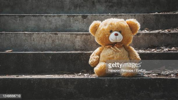 close-up of teddy bear - teddy bear stock pictures, royalty-free photos & images