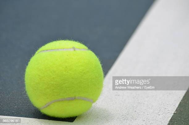 Close-Up Of Tennis Ball On Court