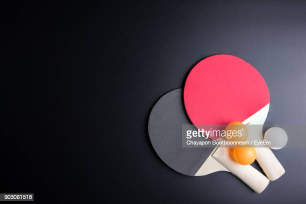 close-up of tennis ball on table - table tennis racket stock pictures, royalty-free photos & images