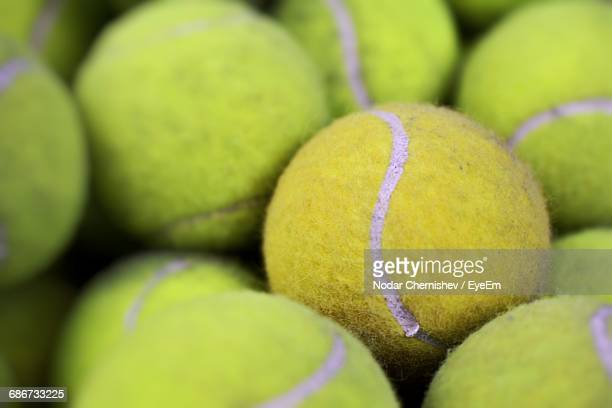 Close-Up Of Tennis Balls