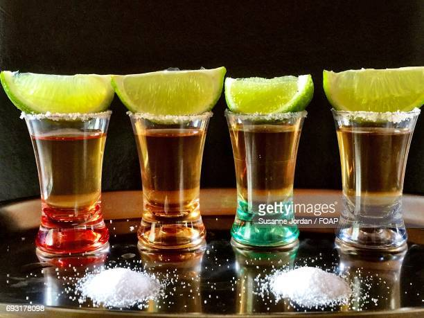 Close-up of tequila shot