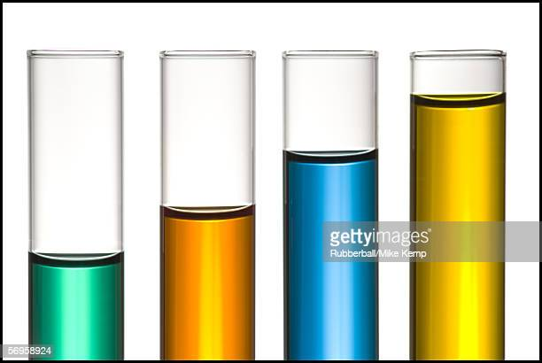 Close-up of test tubes filled with liquid