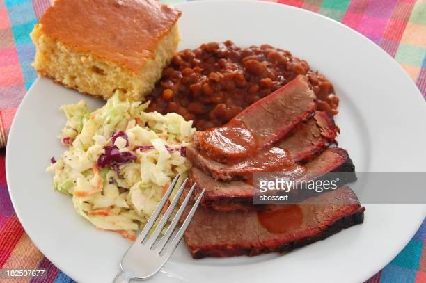 Close-up of Texas barbecue brisket