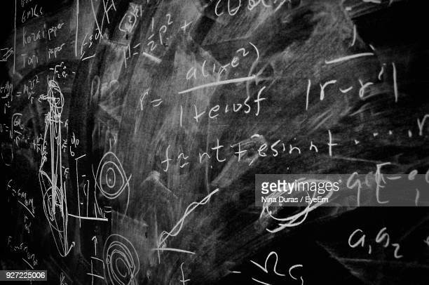 close-up of text on blackboard - chalkboard stock photos and pictures