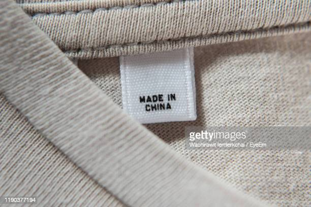close-up of text on garment - label stock pictures, royalty-free photos & images