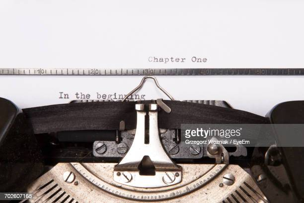 Close-Up Of Text On Paper In Old Typewriter