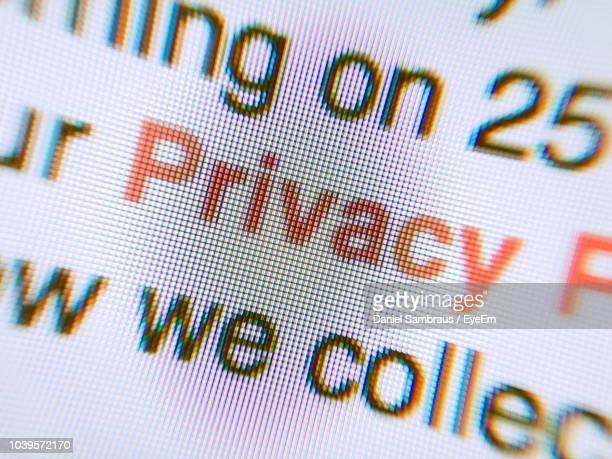close-up of text on paper - data privacy stock pictures, royalty-free photos & images