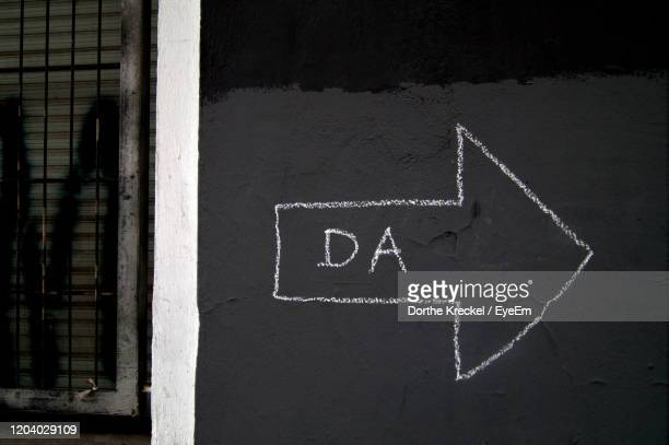 close-up of text on wall - chalk wall stock pictures, royalty-free photos & images