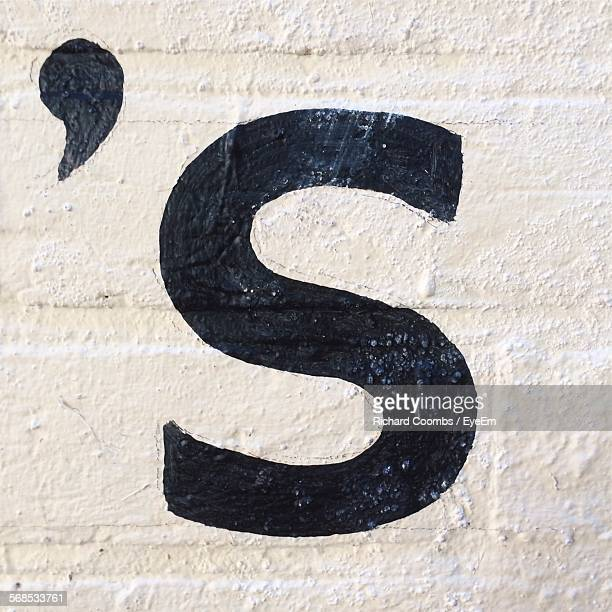 close-up of text on wall - letter s stock pictures, royalty-free photos & images