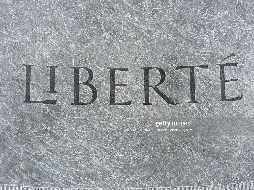 Close-Up Of Text On Wall : Foto stock