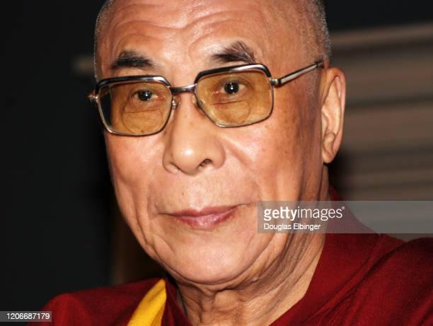 Close-up of the 14th Dalai Lama , Ann Arbor, Michigan, April 18, 2004.