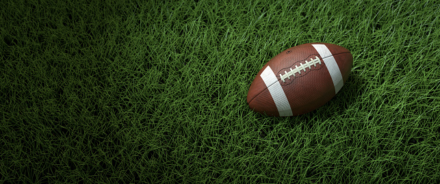 A close-up of the american ball on the field 1164262690