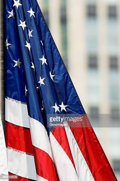 close-up of the american flag - folded flag stock pictures, royalty-free photos & images