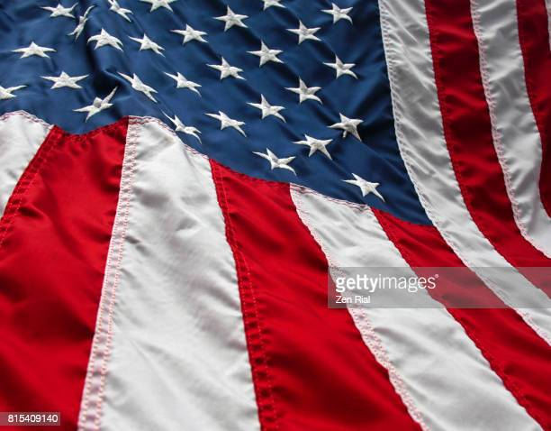close-up of the american flag - memorial day remembrance stock pictures, royalty-free photos & images