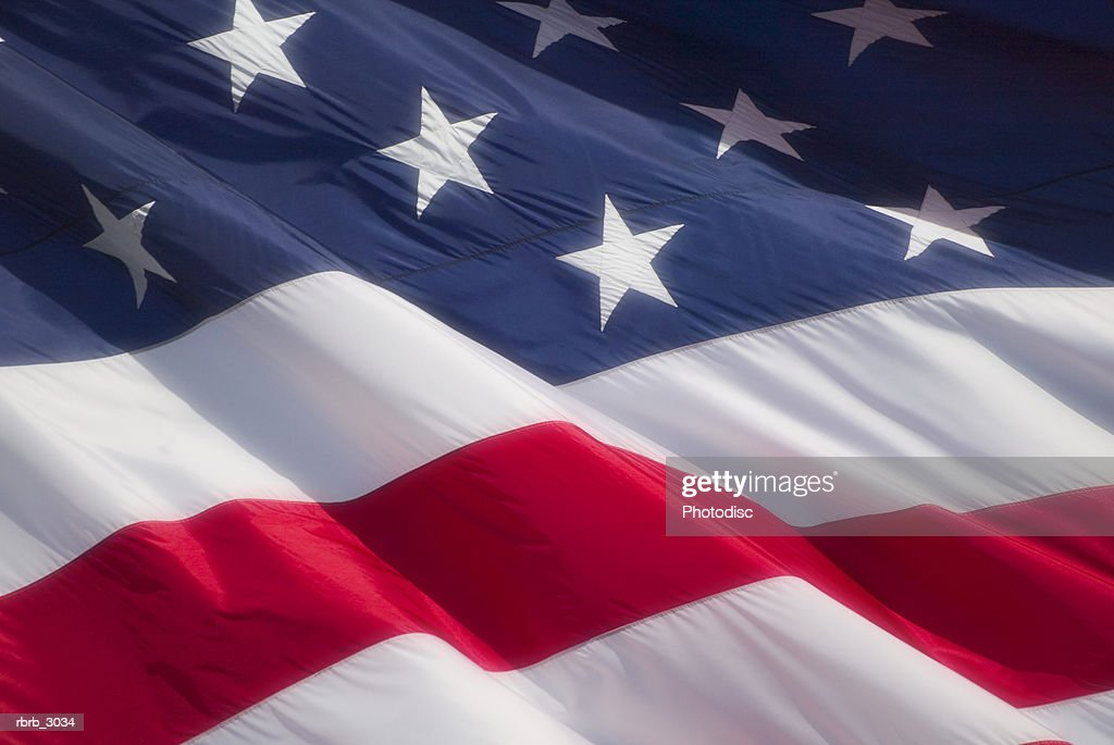 Close-up of the American Flag : Foto de stock