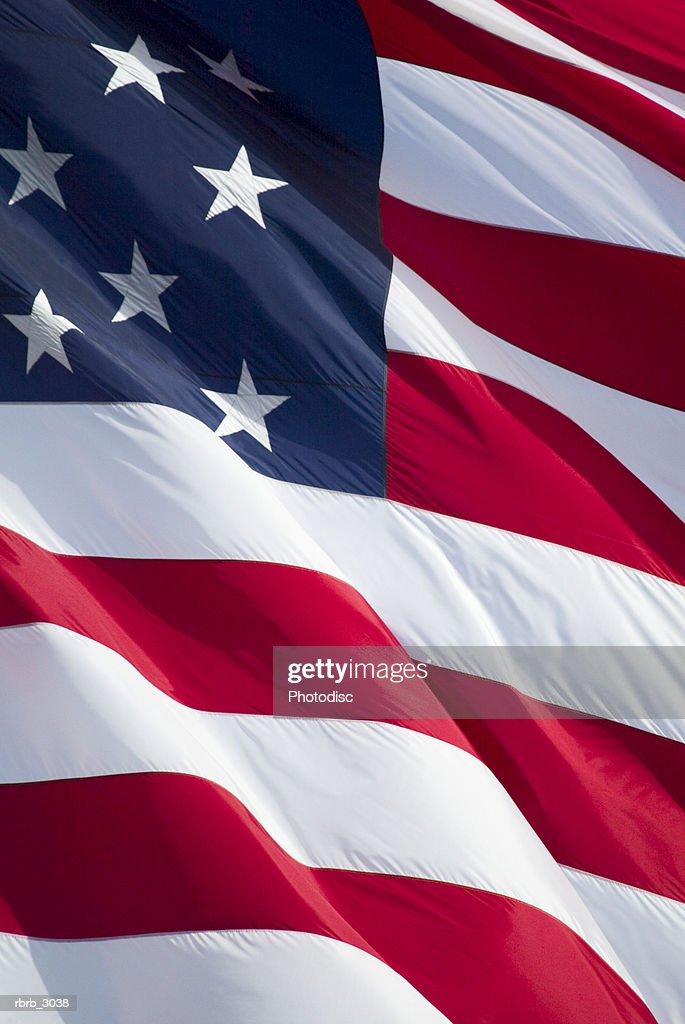 Close-up of the American Flag : Foto de stock
