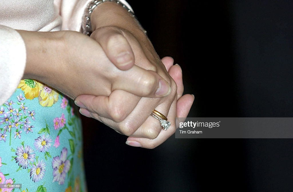 Wedding And Engagement Rings Of Sophie : News Photo