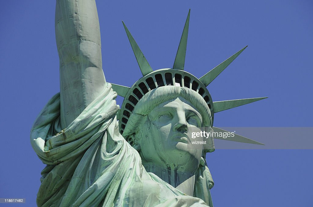ee98c44f881e1 Closeup Of The Face Of The Statue Of Liberty Stock Photo | Getty Images