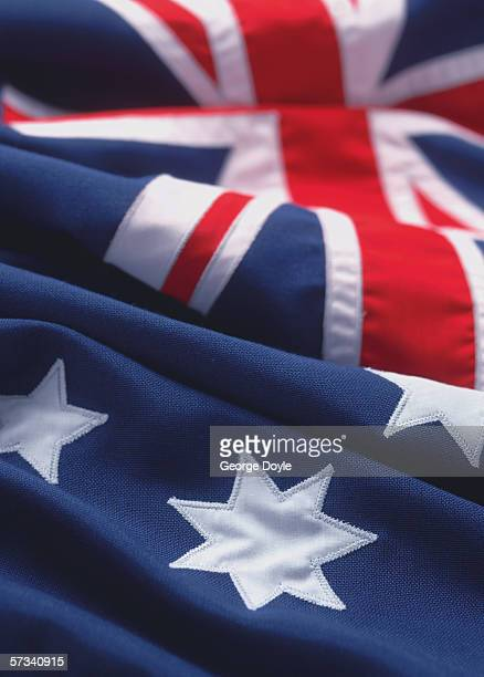 close-up of the flag of Australia