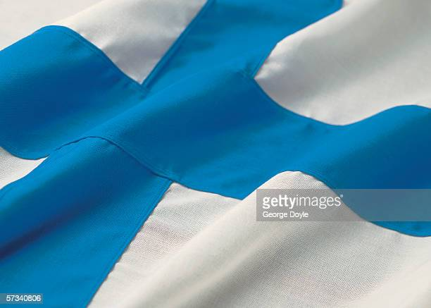 Close-up of the flag of Finland