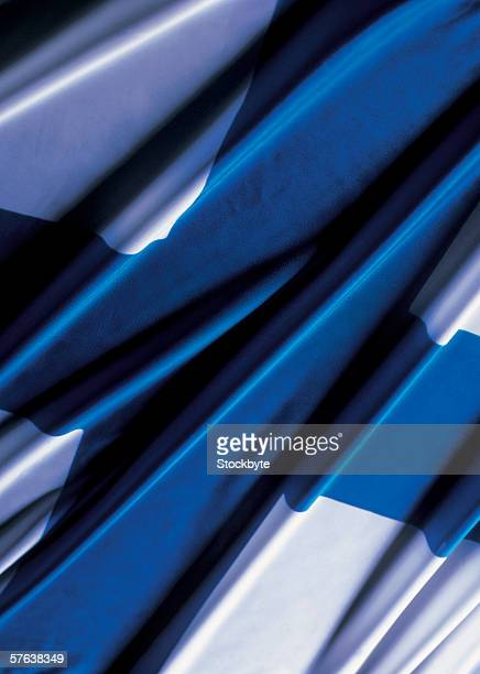 close-up of the flag of finland - finnish flag stock photos and pictures