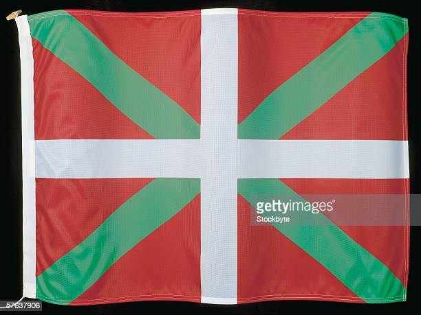 close-up of the flag of pais vasco - pais ストックフォトと画像
