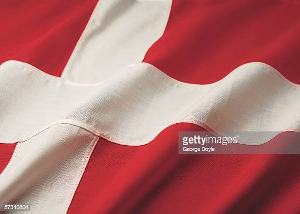 Close-up of the flag of Sweden