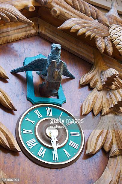 Close-up of the front of a cuckoo clock